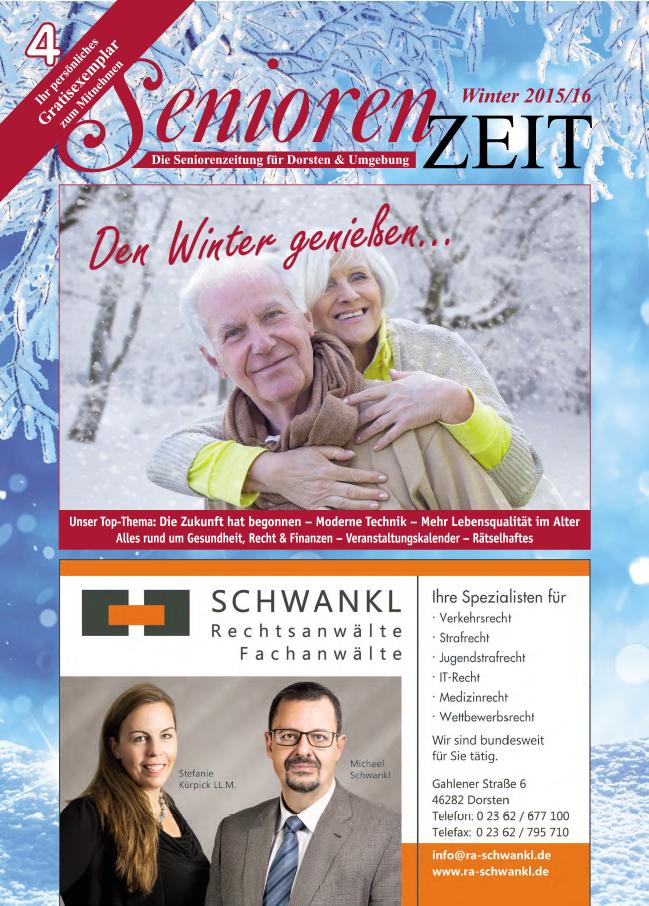 Winterausgabe SeniorenZeit 15/16