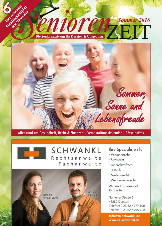Sommerausgabe SeniorenZeit 16